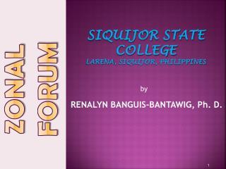 Siquijor  state college Larena ,  siquijor ,  philippines