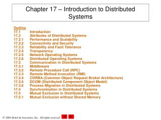 chapter 17   introduction to distributed systems