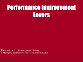 Performance Improvement Levers
