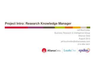Project Intro: Research Knowledge Manager