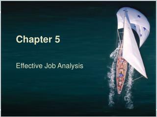 Chapter 5 Effective Job Analysis