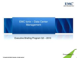 EMC Ionix – Data Center Management