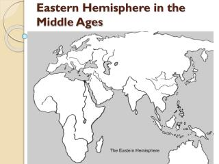 Eastern Hemisphere in the Middle Ages