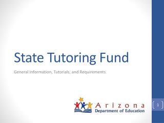 State Tutoring Fund