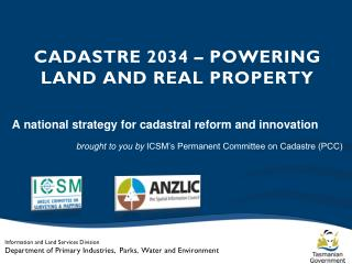 CADASTRE 2034 – POWERING LAND AND REAL PROPERTY