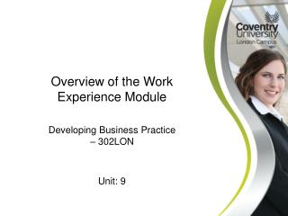Overview of the Work Experience Module