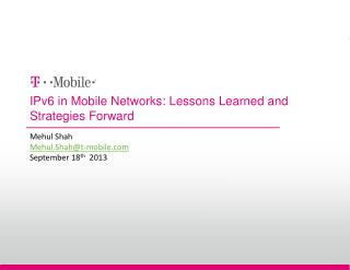 IPv6 in Mobile Networks: Lessons Learned and Strategies Forward