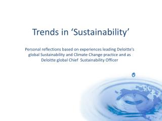 Trends in �Sustainability�