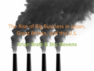The Rise of Big Business in Japan, Great Britain, and the U.S.