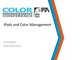 iPads  and Color Management