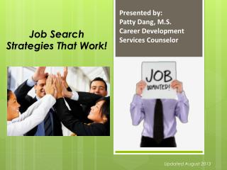 Job Search Strategies That Work!