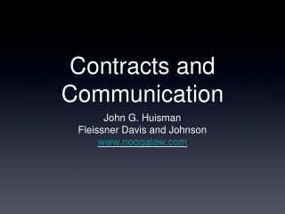 Contracts and Communication