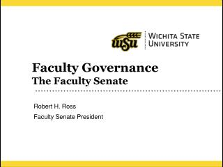 Faculty Governance The Faculty Senate