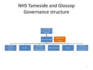 NHS Tameside and Glossop Governance structure