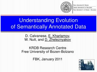 Understanding Evolution  of  Semantically Annotated Data