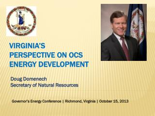 Doug Domenech Secretary of Natural Resources