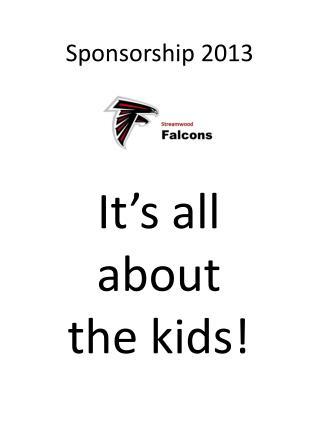 Sponsorship 2013