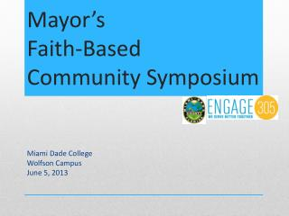 Mayor's  Faith-Based Community Symposium