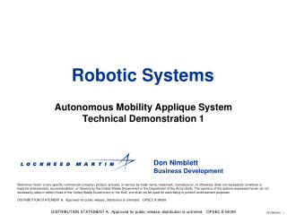 Robotic Systems