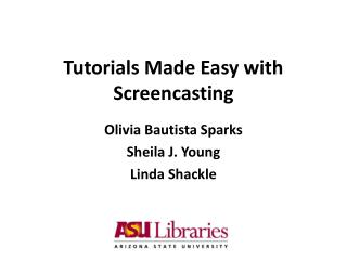 Tutorials Made Easy with Screencasting