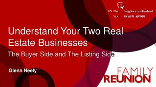 Understand Your Two Real Estate Businesses