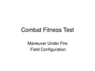 combat fitness test