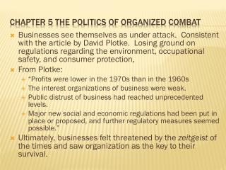 Chapter 5 The Politics of Organized Combat
