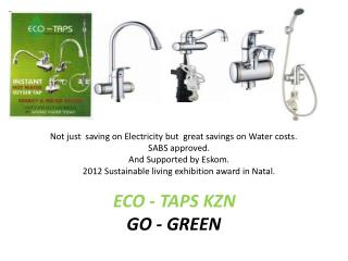 ECO - TAPS KZN GO - GREEN