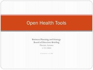 Open Health Tools