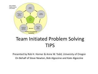 Team Initiated Problem Solving TIPS