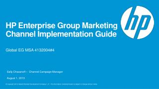 HP Enterprise Group Marketing Channel Implementation Guide