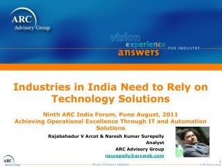 Industries in India Need to Rely on Technology Solutions