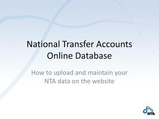 National Transfer Accounts Online Database