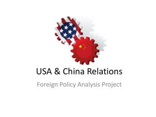 USA & China Relations