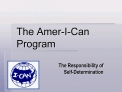 the amer-i-can program