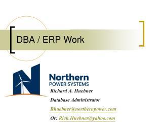 DBA / ERP Work