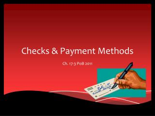 Checks & Payment Methods