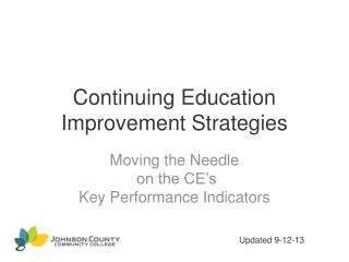 Continuing Education Improvement Strategies