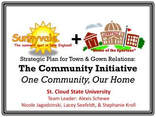 Strategic Plan for Town & Gown Relations: The Community Initiative O ne  C ommunity, Our  H ome
