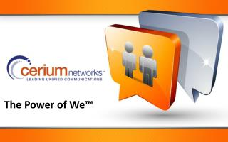 The Power of We�