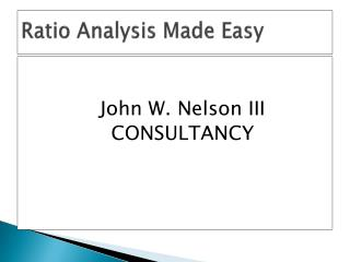 Ratio Analysis Made Easy