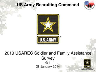 2013 USAREC Soldier and Family Assistance Survey G-1 28 January 2014