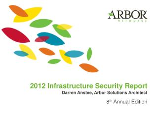 2012 Infrastructure Security Report Darren Anstee, Arbor Solutions Architect