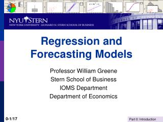 Regression and Forecasting Models
