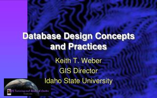 Database Design Concepts and Practices