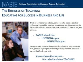10 Things Business Teachers Get For Their Efforts