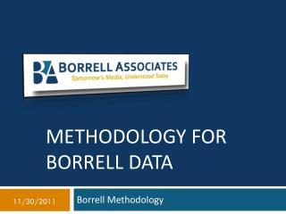 Methodology for Borrell Data