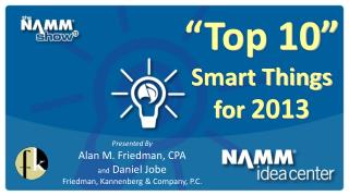 """Top 10""  Smart Things  for  2013"