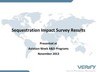 Sequestration Impact Survey Results