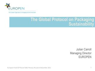 The Global Protocol on Packaging Sustainability
